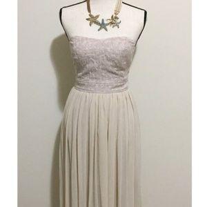 NWT - BCBG Sheer Chiffon Pleated Maxi Dress SZ 4